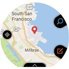 地図部分をタップすると現在地の詳細な地図を表示