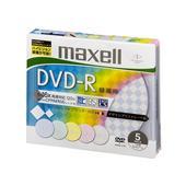 [DRD120PMIXC.S1P5S B] デザインプリントレーベルを採用した16倍速対応録画用DVD-Rディスク(5枚パック/スリムケース)。価格はオープン