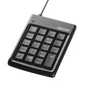 [BSTK01BK] USB2.0対応USBハブ機能を備えたキーピッチ16mmのコンパクトなテンキーボード(シルバー)。本体価格は2,390円