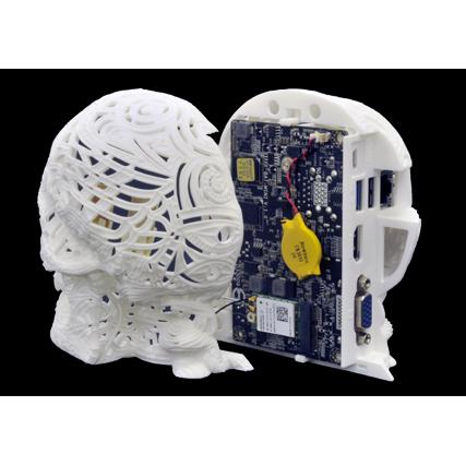 リンクス、3Dプリンターで造形したドクロ型デスクトップPCを限定発売 画像3