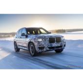 BMW X3 次期型の開発プロトタイプ車