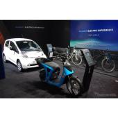 プジョーの電動車展示コーナー(ジュネーブモーターショー2017)