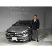 メルセデス・ベンツ日本の上野金太郎社長と新型『GLA』