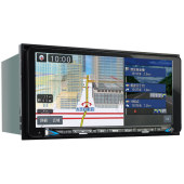 クラリオン独自の7.7型画面で横幅200mmの「MAX777W」。フルデジタルサウンドシステム対応。