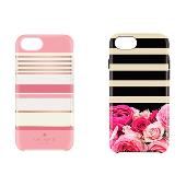 iPhone 7用 kate spade ハイブリッドカバー/Berber Stripe、iPhone 7用 kate spade(R) ハイブリッドカバー/Photo Rose Stripe