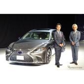 新型LS 澤良宏プレジデント(右)と開発担当の旭利夫チーフエンジニア