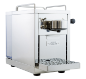 エスプレッソとルンゴが飲める、シンプルデザインのカプセルコーヒーマシン