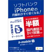 「b-mobile S スマホ電話SIM」
