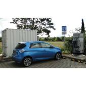 ルノーのEV電池を再利用した急速充電ステーション