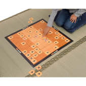 メガハウス、駒の進め方がプリントされている紙製のカード将棋