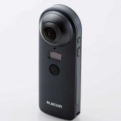 エレコム、全方位360度撮影に対応する4K防水カメラ「OMNI shot」
