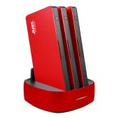 「JUSTロゴ入 3連モバイルバッテリー PowerStation RED」