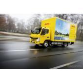 三菱ふそうのEVトラック、eキャンターの欧州第一号車(参考画像)