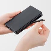 サンワ、充電ケーブルを一体化できるモバイルバッテリー