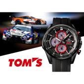 カシオ、レーシングチーム「TOM'S」とコラボしたソーラークロノグラフ