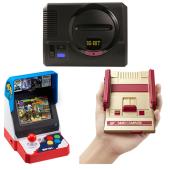 (上)メガドライブ ミニ、(左下)NEOGEO mini、(右下)ミニファミコン ジャンプVer.