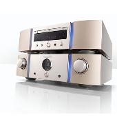 スーパーオーディオCD/CDプレーヤー「SA-12」(上)とプリメインアンプ「PM-12」(下)