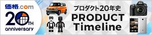 価格.com 20周年記念サイト - PRODUCT Timeline