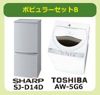 ポピュラーセットB(冷蔵庫・洗濯機)