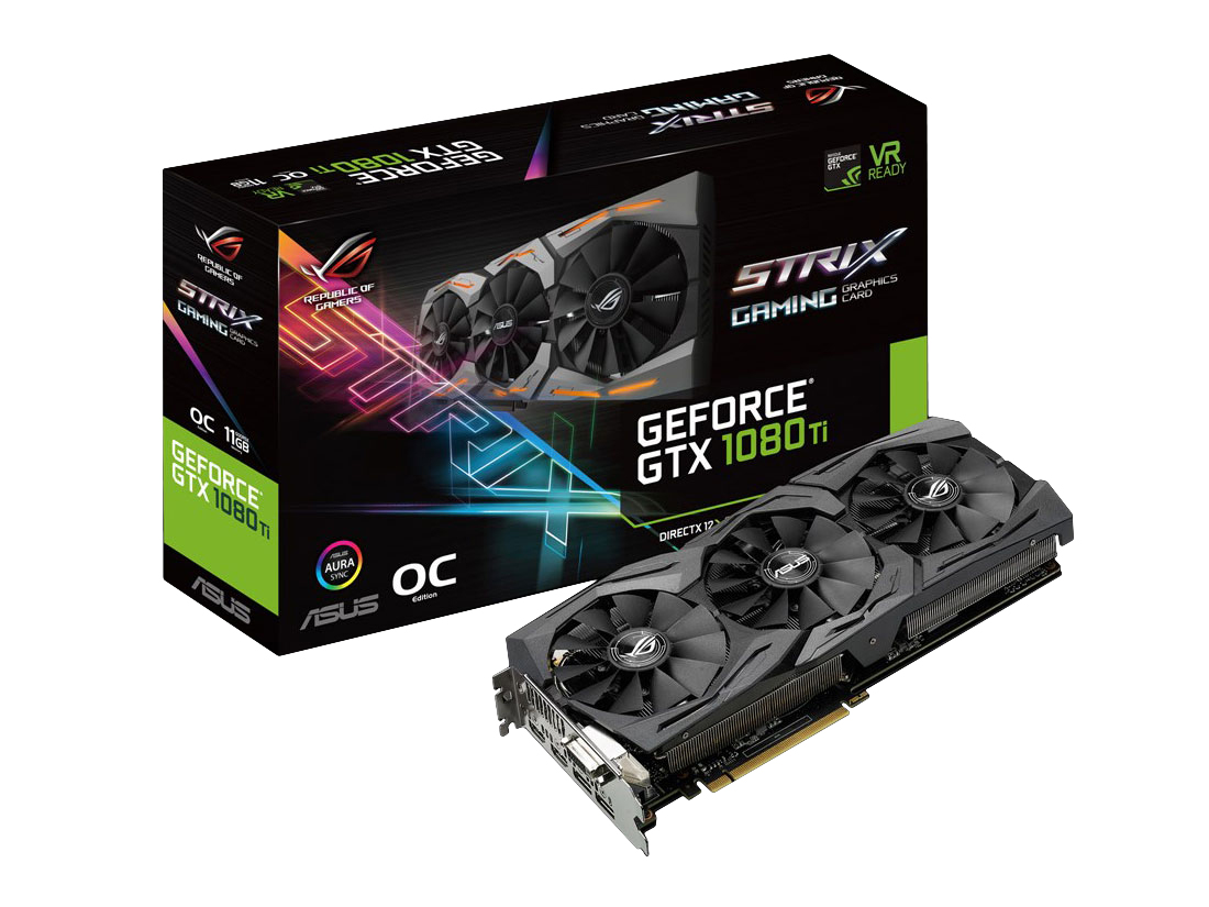 ASUS(エイスース・アスース) > ROG-STRIX-GTX1080TI-O11G-GAMING [PCIExp 11GB]製品画像