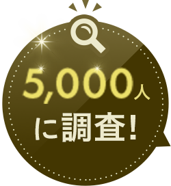 5,000人に調査!