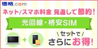 光回線・格安SIMがセットでお得!