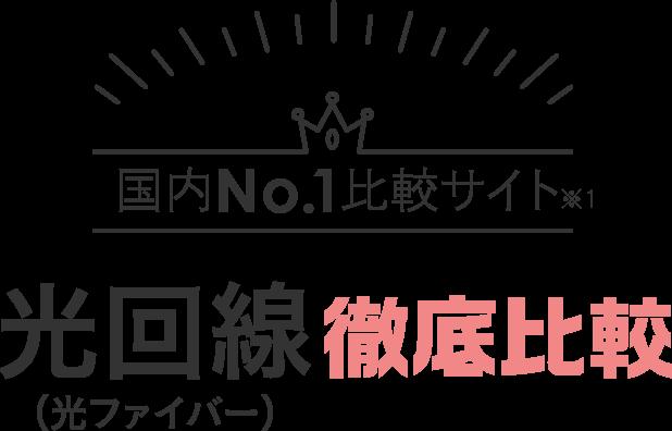 国内No.1比較サイト※1 光回線(光ファイバー)徹底比較