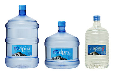 ボトルは、5ガロン(18.9リットル)、3ガロン(12リットル)、8リットルの3種類あります