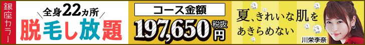 全身22カ所脱毛し放題197,650円
