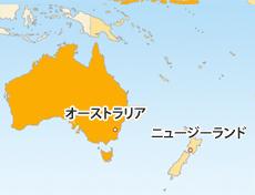 豪ドル(AUD)地図