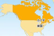 カナダドル(CAD)地図