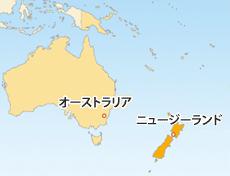 NZドル(NZD)地図