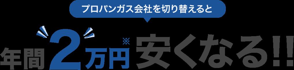 プロパンガス会社を切り替えると年間2万円安くなる!!