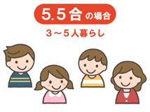3.5〜5.5合