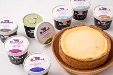 アイス工房ドリームのジェラートと手作りチーズケーキセット