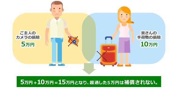 図1− 携行品損賠 10万円のファミリープランの例