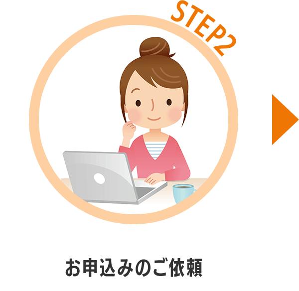 STEP2お申込みのご依頼