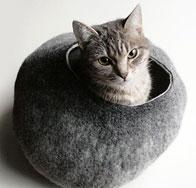ウール製 猫用ベッド