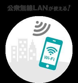 公衆無線LANが使える!