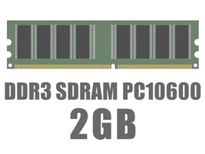 DIMM DDR3 SDRAM PC3-10600 2GB バルク