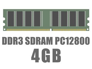 DIMM DDR3 SDRAM PC3-12800 4GB バルク