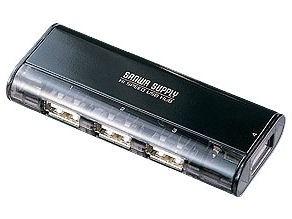 サンワサプライ USB2.0ハブ(4ポート・ブラック) USB-HUB225GB・・・