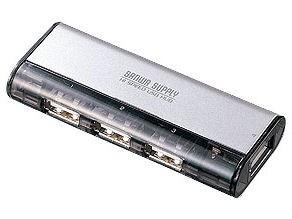サンワサプライ USB2.0ハブ(4ポート・シルバー) USB-HUB225GS・・・