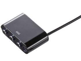 サンワサプライ USB付き3連ソケット(シガーライターソケット用) CAR-CHR60C・・・