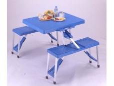 PAL M8421 アルミピクニックテーブル ブルー M-8421
