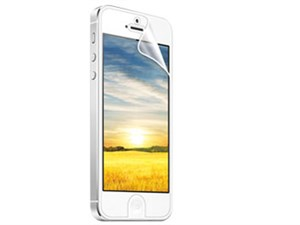 iPhone 5用液晶保護指紋防止光沢フィルム PDA-FIPK35FP