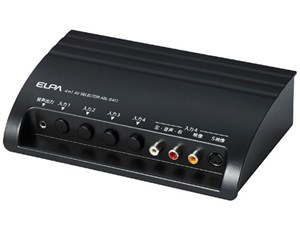 ELPA AVセレクター 4入力1出力 S映像端子あり ASL-S411