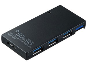 サンワサプライ USB3.0SDカードリーダー付きハブ(ブラック) USB-HCS315B・・・