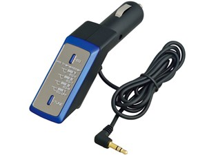 セイワ セイワ FMトステレオトランスミッターDEQ メタルブルー P225 E441907・・・