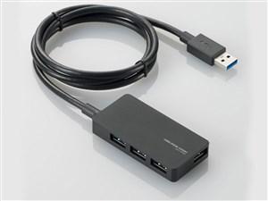 エレコム USBHUB3.0/A408Sシリーズ/ACアダプタ付/セルフパワー/4ポート/ブラ・・・